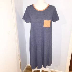 Lularoe Carly blue and orange size XS
